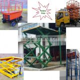 Factory price platform,Hydraulic rotating aerial working elevating suspended vertical truck stage scissor lift platform for sale