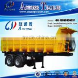 Direct selling 20 cbm 2 axles dump trailer/rear tipping trailer for sale