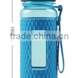 370ml volume water bottle with silicon cover protect safety