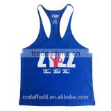 Custom Logo Printing Muscle Stringer Plain 100 Cotton Tank Top Wholesale Singlet Gym Mens Tank Top