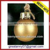 Yiwu fast selling mini frosted yellow glass christmas ball wholesale christmas decoration ball