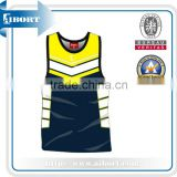 SUBBS-358-2 basketball jersey navy and yellow
