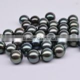 2016 new arrival perfect round Tahitian loose black pearl