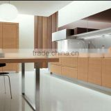 Timber veneer kitchen cabinet with open paint wood grain can be feeled