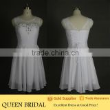 Real Sample Sleeveless Sexy Short Mini White Taobao Wedding Dress
