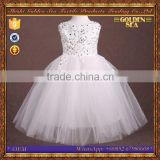 new style white birthday party pretty kids dress design