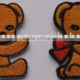 Iron-On Embroidery bear Patches, Sew-On Embroidery Badges, Iron-On Embroidery Appliques