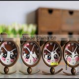 cartoon Bell Table Clock,cute girls Table Alarm Clock,cute cat shape ABS Alarm Clock for table