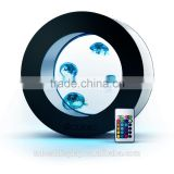 excellent black LED round acrylic aquarium,acrylic fish tank with remote controller