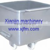 Stainless Steel Meat Trolley for Meat Processing Skip Cart
