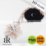 Beautiful flower black welded metal ornament chain Brightness F1-80023