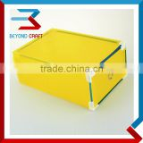 Plastic clear PP shoe box with metal frame shoe storage box                                                                                                         Supplier's Choice