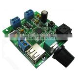 pam8406 audio amplifier pcb board with bluetooth wireless receiver 12v 5V USB power supply 6W+6W for Iphone Android