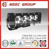 "4X4 cree auto car accessory single row led light bar 10"" 40w led light bar,single row"