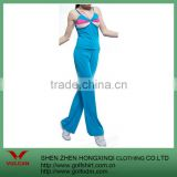 hot sales fitness blue Yoga and Bodybuilding suit