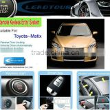Remote Security Electronic Car Alarm System Keyless Go Button Start and Autmatic Windows Close for Toyota Matrix