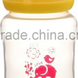 240ml 8oz round shape with liquid silicone wide neck baby bottle