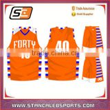 Stan Caleb cheap youth team reversible plain wholesale blank basketball jerseys Youth basketball sports wear