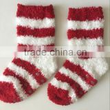 Baby/ kids velvet plush warm socks with silicon dots