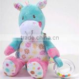 "11"" soft and cute ACTIVITY horse Plush Baby Toy"