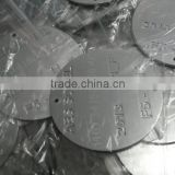 aluminum stamped disk, metal coin, custom aluminum round tag, metal tag with serial number