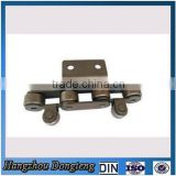 Roller chain with A2 type accessory and guide wheel Steel Chains factory direct supplier DIN/ISO Chain made in china