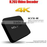 Dragonbest 4k quad core RK3229 MX8 4K IP TV set top box multimedia player android