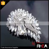 Sparkling Antique Silver Clear Brooch