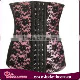 china wholeslae women waist training corsets for sale 4 steel boned corset flower print underbust 6XL sexy corset
