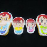 children lovely cartoon PET heat transfer printing film for plastic lunch box