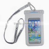 Fashion Summer Beach Mobile Phone PVC Waterproof Neck Bag Transparent Neck Pouch for Cellphone