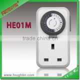 Mechanical timer 24hours timer socket UK plug digital wall clock timer