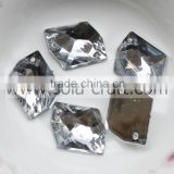 Listing of 13*18MM Crystal Silver Acrylic Angle Wing Garland Mirror Crystal Bead Charm Ornaments
