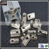 good price Roll-in T Spring Nut Half Round Elasticity Spring Nut Block for Aluminium Profile