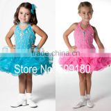Mini Beaded Custom Made Vestidos Girl Dress for Wedding Ball Gown FG031 baby flower girl dress hot sex photos