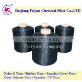 30d/2 dope dyed black nylon yarn for sewing thread