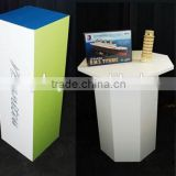 Hot sale cardboard paper furniture,cardboard desk/chair /new style recycled corrugated paper furniture