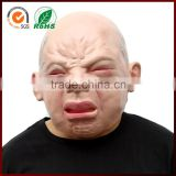 Scary Halloween Costume Funny Real Face Crying Baby Latex Mask