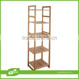 free standing eco-friendly shelving/bamboo free standing corner shelving unit