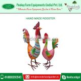 Top Quality Customized Iron Handmade Rooster Metal Crafts Supplies Wholesale