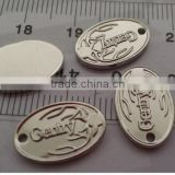 engraved brass oval jewelry tags, custom logo design metal plates