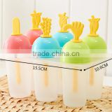 FRUIT shape Kitchen FrozenIce pudding pops DIY Mold 6 compartments