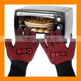 Factory Price 14 Inch Forearm Protection 932F Extreme Heat Resistant Gloves Silicone BBQ Grill Gloves Mittens Hot Oven Gloves