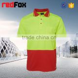 two-colored reflective safety t-shirt for running mens good-looking t-shirt hi vis polyester t-shirt terry cloth