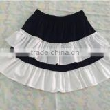 childrens boutique clothing black and white ruffle skirt Baby Cloth Girl Christmas Wear Party Dance Wear Cotton Skirts
