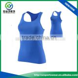 High quality cotton/spandex fabric ladies sports singlets