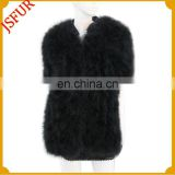 2015 New style fashion half sleeves marabou coat made of genuine marabou feather