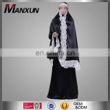Modest Abaya Clothing Type And Adults Age Group Jilbab Dress For Muslim Hijab Suits Dress With Lace Hijabs