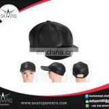 cheep prices black leather cap /Leather snap back caps snap back caps made in leather