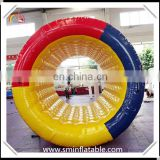 0.9mm pvc promotion product inflatable water coaster, inflatable walking water sport wheel roller for adult & kids